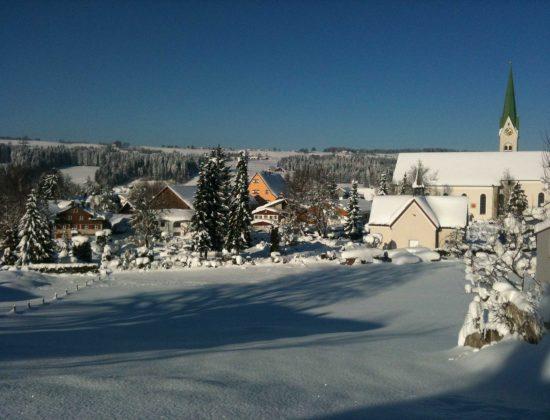 Blick zum Dorfzentrum