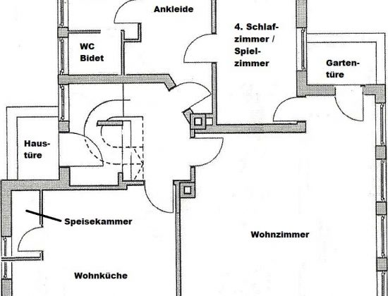 Grundriss Ferienwohnung EG+OG (Erdgeschoss)
