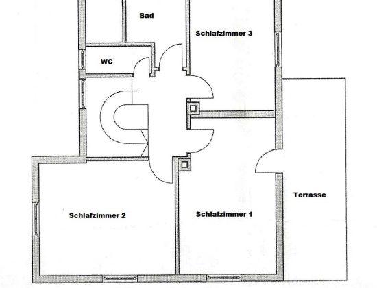 Grundriss Ferienwohnung EG+OG (Obergeschoss)